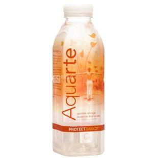 Aquarte Protect, Вода негазированная с экстрактом ацеролы и вкусом апельсина, 0,5 л