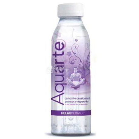 Aquarte Relax, 0,5 л, Акварте Релакс, Вода негазована з екстрактом ромашки і смаком маракуї, ПЕТ