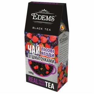 Edems, Forrest Berries, 100 г, Чай Едемс, Лісові ягоди, чорний зі шматочками фруктів