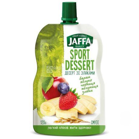 Jaffa, Sport Dessert, Банан-яблоко-черника-клубника-злаки, 120 г, Джаффа, Десерт со злаками, Смузи натуральный