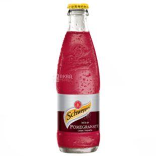 Schweppes, Pomegranate, 0,25 л, Швепс, Гранат, Вода сладкая, стекло