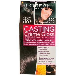 L'Oreal Paris CASTING Creme Gloss, Краска для волос, Тон 200, Черный кофе, 160 мл
