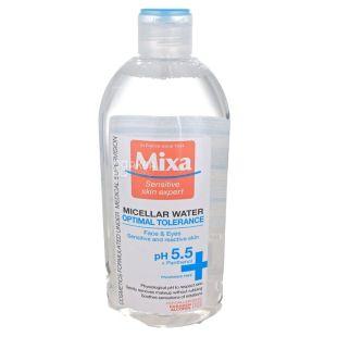 Мицеллярная вода для нормальной и сухой чувствительной кожи лица, 400 мл, ТМ Mixa