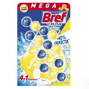Bref Duo-Active, Блок для унитаза, 4*50 мл