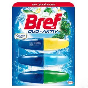 Bref Duo Active, Toilet bowl, Freshness, 3 * 50 ml