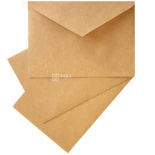 Envelope C5 (162х229 mm) Kraft 100 pcs., With tear-off tape