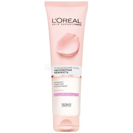 L'oreal, Gel cleansing for dry and sensitive skin, 150 ml