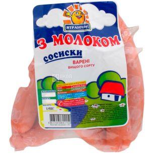 Ятрань Сосиски с молоком вареные, в/с, 490 г
