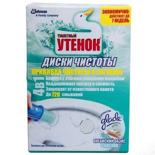 Туалетне Каченя, 1уп. х 6 шт., Диски чистоти для унітазу, Океанський оазис