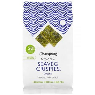 Clearspring, Seaweed Chips, Organic 5 g