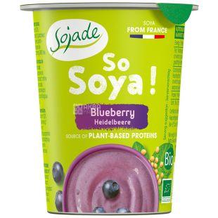 Sojade, Йогурт соевый органический, черника, 125 г