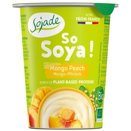 Sojade So Soya Mango Peach Organic, 125 г, Сояде, Йогурт соевый органический, манго и персик, без глютена и лактозы