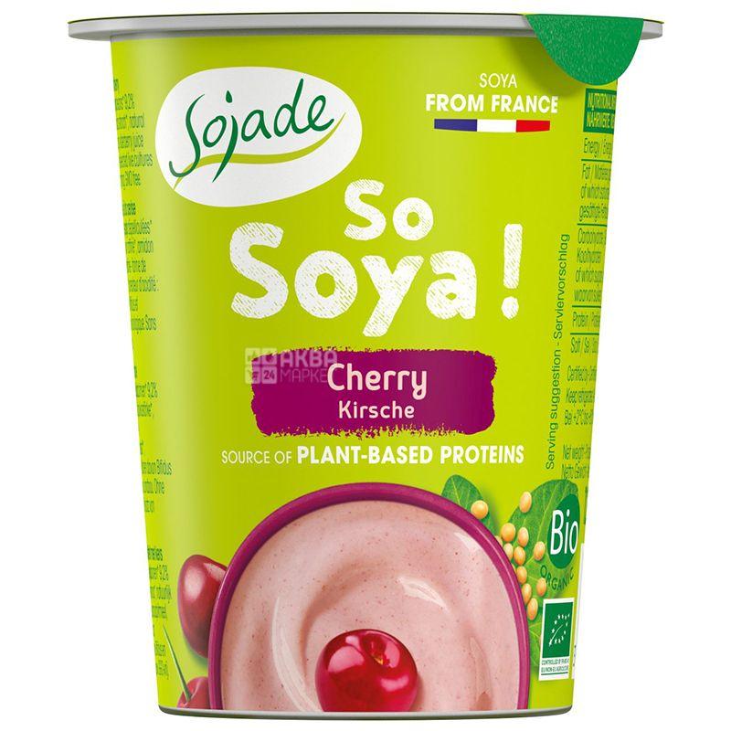 Sojade So Soya Cherry Organic, 125 г, Сояде, Йогурт соевый органический, вишня, без глютена и лактозы