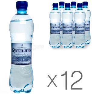 Куяльник, Вода газована, 0,5 л, упаковка 12 шт.