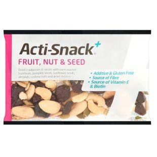 Смесь фруктов, орехов и семян сушеная, 40 г, ТМ Acti-Snack