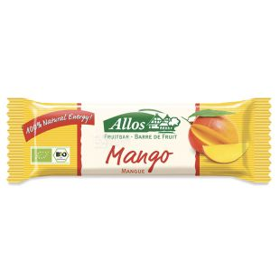 Allos, Органический батончик, манго, 30 г