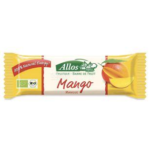 Allos, Органічний батончик, манго, 30 г