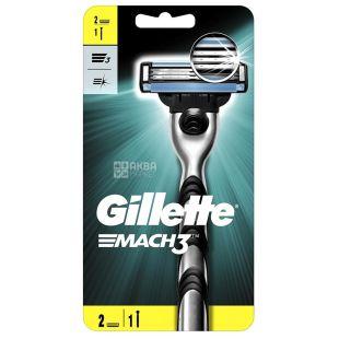 Gillette Mach 3, Бритва, 2 змінні касети