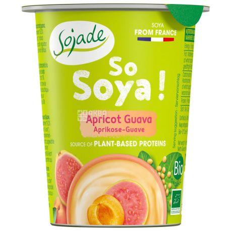 Sojade So Soya Apricot Guava Organic, 125 г, Сояде, Йогурт соевый органический, абрикос, гуава, без глютена и лактозы