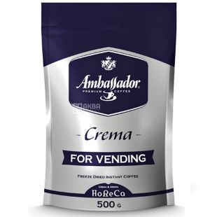 Ambassador Cremа, 500 г, Кофе растворимый Амбассадор Крема, для вендинга