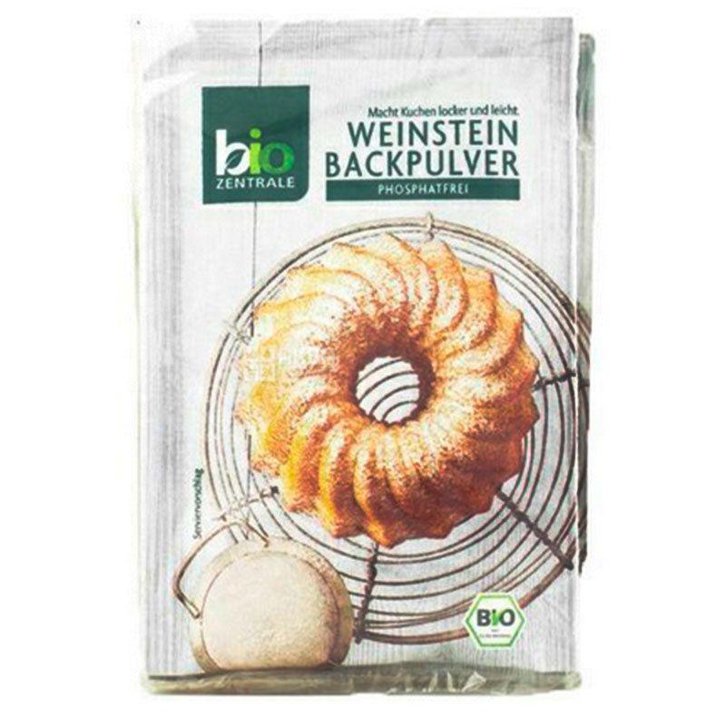 Bio Zentrale, Органический порошок для выпечки, 21 г, 3 шт.