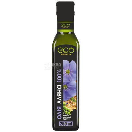 Масло из семян льна, 250 мл, ТМ Eco-Olio