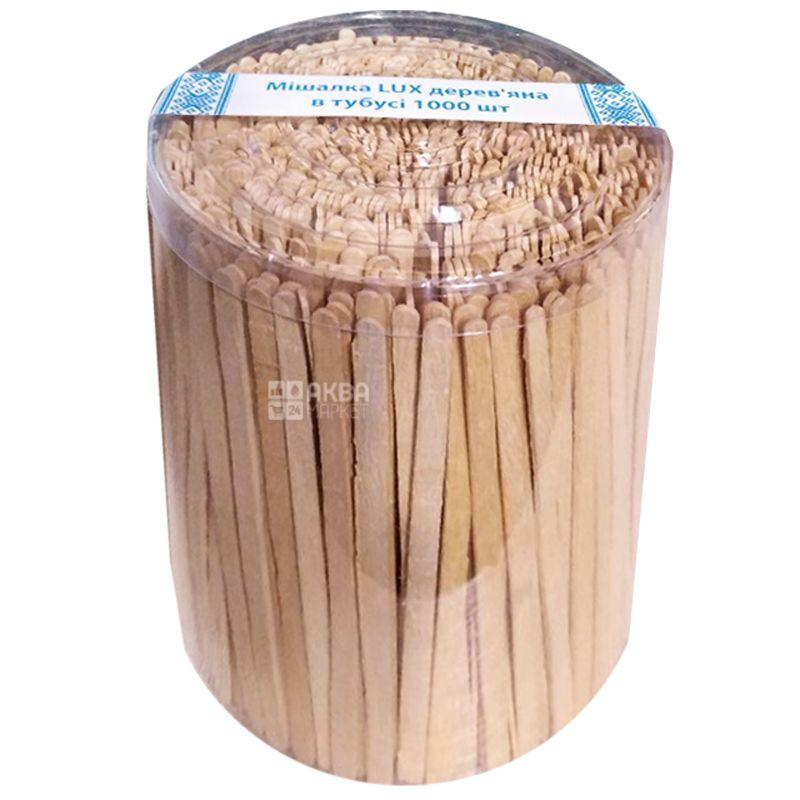 LUX, Мішалки дерев'яні в тубусі, 14,5 см, 1000 шт.