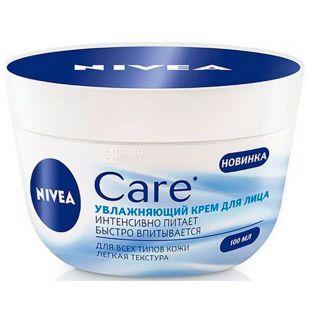 Nivea, Крем для лица Увлажняющий, Care, 100 мл