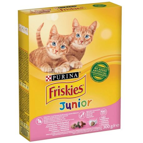 Friskies, Корм для котят, Курица, Морковь, Молоко, 270 г