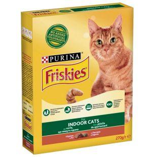 Friskies, Корм для котов, Индейка, Курица, 270 г