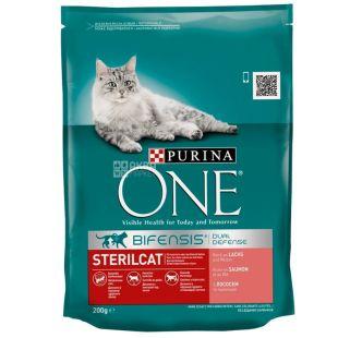 Purina, Сухой корм, Для кастрированных котов и стерилизованных кошек, 200 г