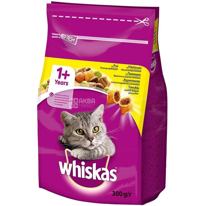 Whiskas, Сухий корм для дорослих котів, 300 г