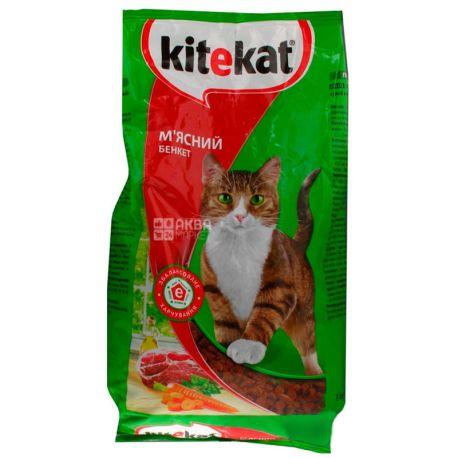 Kitekat, Сухой корм для котов, Мясной банкет,  2,4 кг