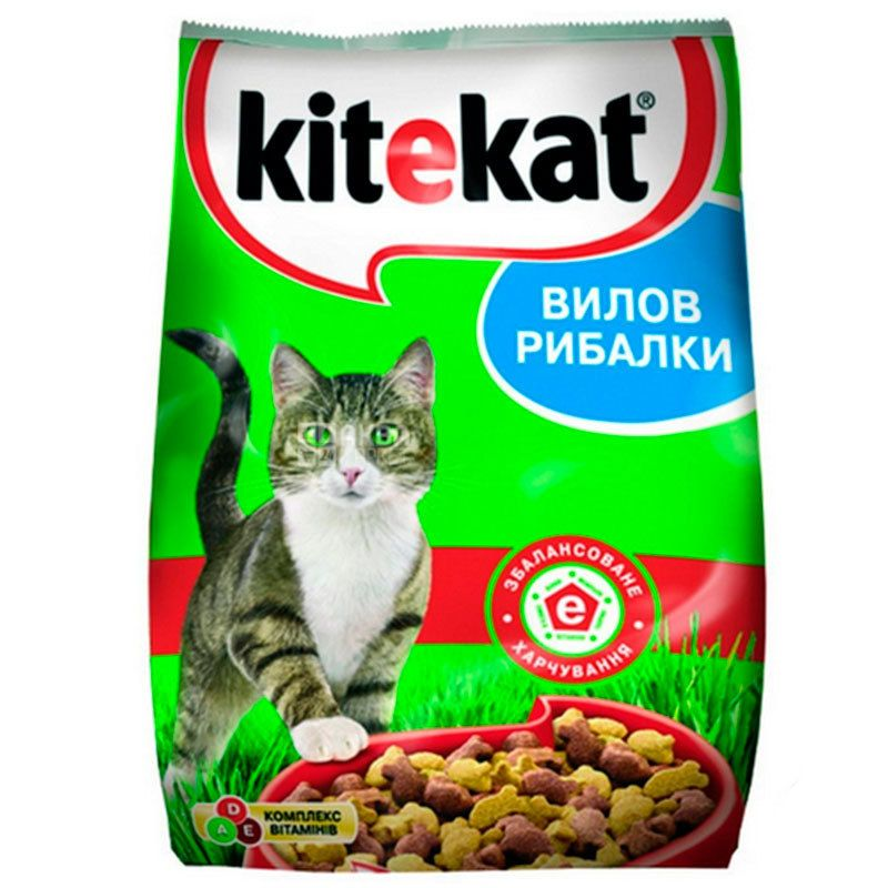 Kitekat, Корм для котів сухий, Риба, 1 кг