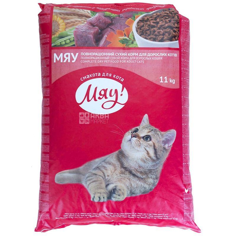Корм для котів сухий, 11 кг, ТМ Мяу