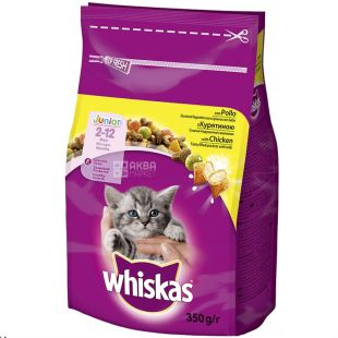 Whiskas, Сухой корм для котят с курицей, 350 г