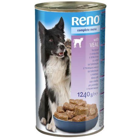 Консервований корм для собак, Яловичина, 1240 г, TM Reno