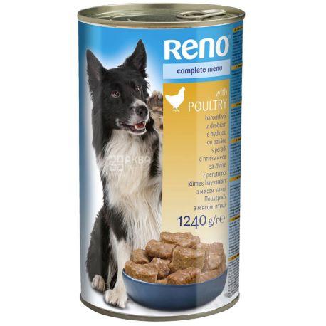 Консервований корм для собак, Курка, 1240 г, TM Reno