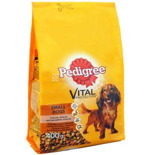 Pedigree, Корм сухой для маленьких собак со вкусом говядины и овощей, 400 г