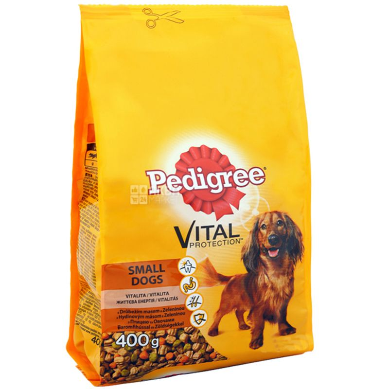 Pedigree, Корм сухий для маленьких собак зі смаком яловичини і овочів, 400 г