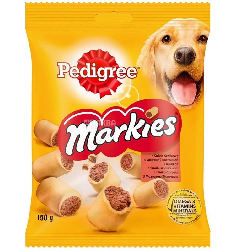 Pedigree Markies, М'ясне печиво для собак, 150 г