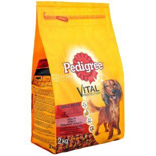Pedigree, Корм со вкусом говядины и овощей для маленьких собак, 2 кг