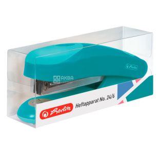 Herlitz, Stapler No. 24/6, 25 L, Color Blocking Caribbean Turquoise Turquoise