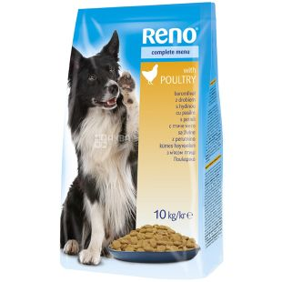 Reno, Сухой корм для взрослых собак, Говядина, 10 кг