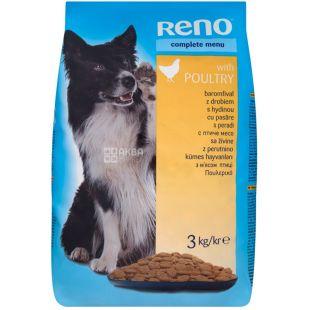 Dry dog food, Poultry meat, 3 kg, TM Reno