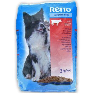 Reno, Сухий корм для собак, яловичина, 3 кг