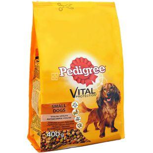 Pedigree, Корм зі смаком птиці і овочів для маленьких собак сухий, 400 г