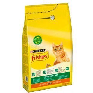 Purina Friskies, Сухий корм для домашніх котів, 1,5 кг