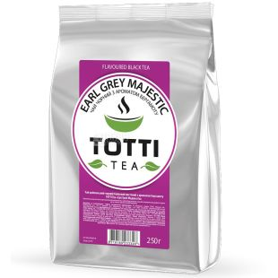 TOTTI Tea, Earl Grey Majestic, 250 г, Чай Тотти, Эрл Грей Маджестик, черный с бергамотом