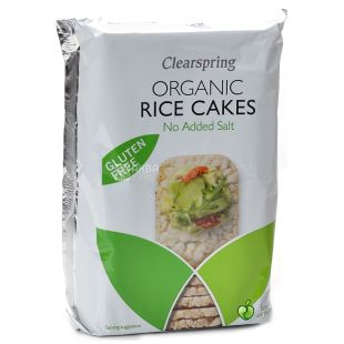 Clearspring, 130 г, Хлебцы органические рисовые, без соли, без глютена